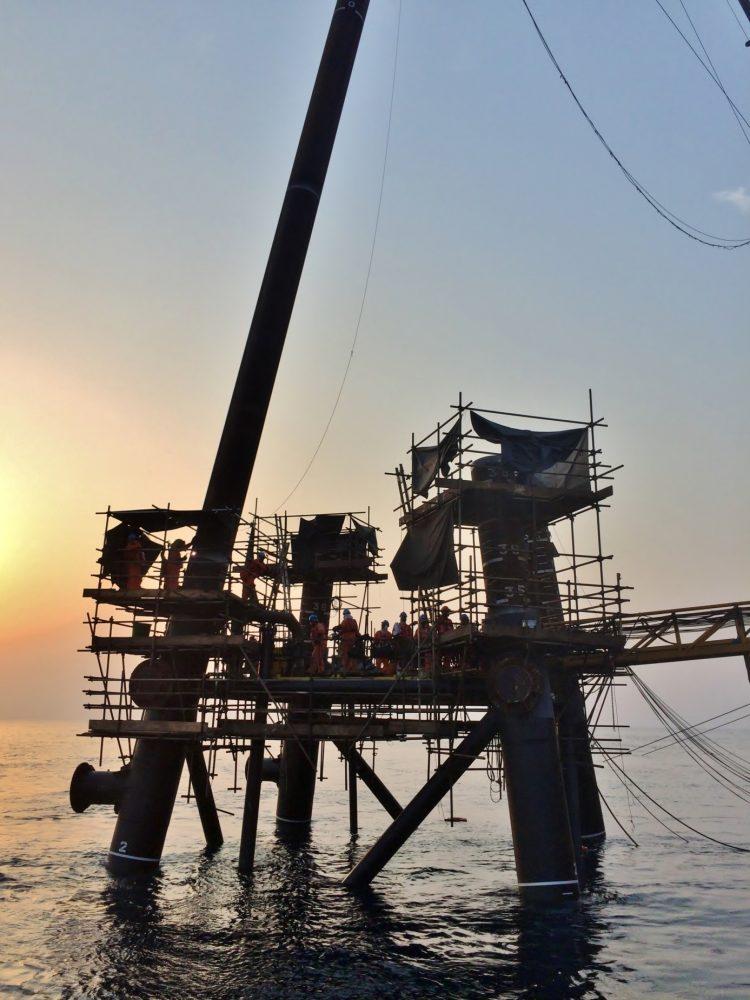 Offshore piles in Qatar