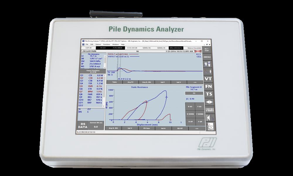 Pile Dynamics Analyzer – Dynamic Load Tester