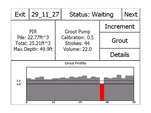 Pile Installation Recorder results
