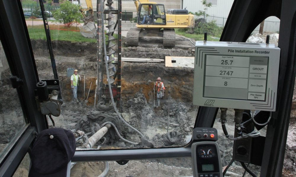 Pile Installation Recorder in use