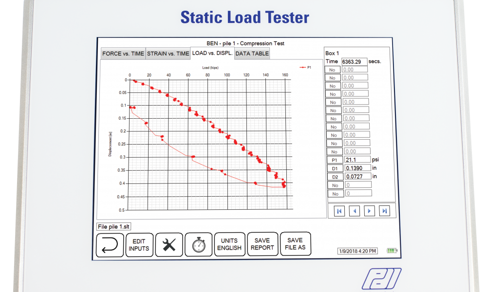 Static load tester