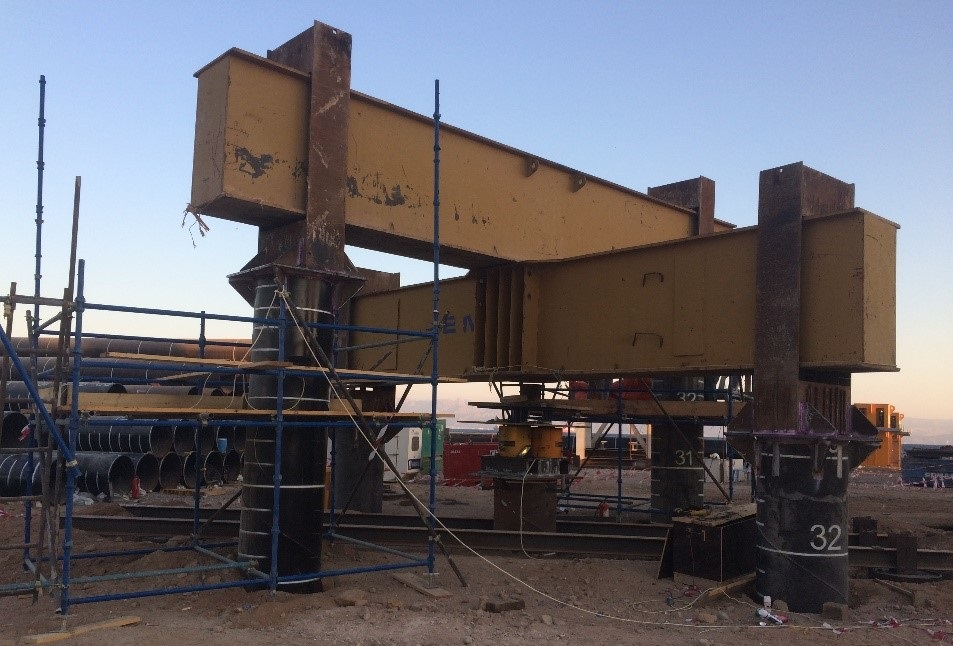 static pile test on installed piles