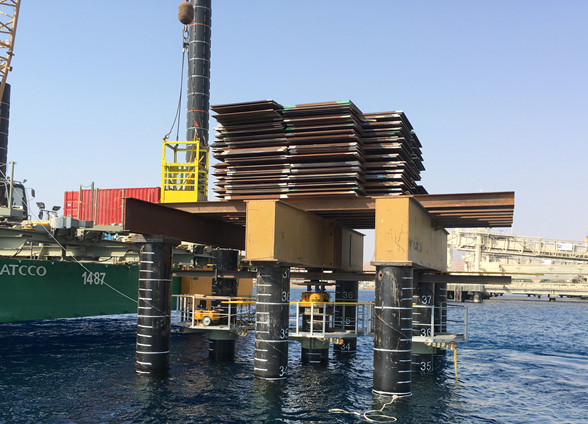 static load test nearshore